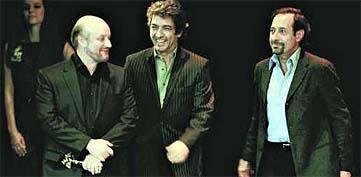 Juan José Campanella, Ricardo Darín y Guillermo Francella (Clarín)