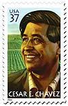 César Chávez en el sello que le dedicó Estados Unidos