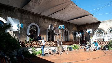 Set de filmación en la hacienda de Tlaxcala