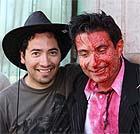 Valladares, con un ensangrentado Avello, rodando 'Toro Loco'