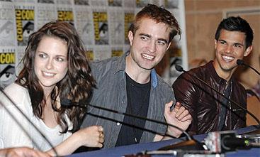 Stewart, Pattinson y Lautner (AP)