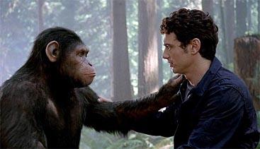 Caesar (Andy Serkis) y James Franco