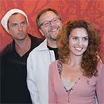 Jude Law, Fernando Meirelles y Lucia Siposova, en la presentación del rodaje de '360'