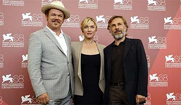 John C. Reilly, Kate Winslet y Christoph Waltz (Reuters)