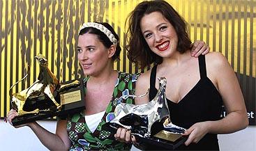 Milagros Mumenthaler y María Canale con sus Leopardos de Oro y Plata