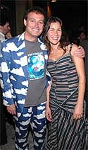 Carbonell con la actriz Tatiana Cohen