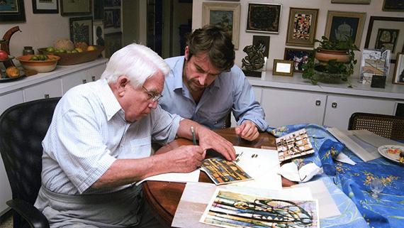 Lorenzo Vigas y su padre