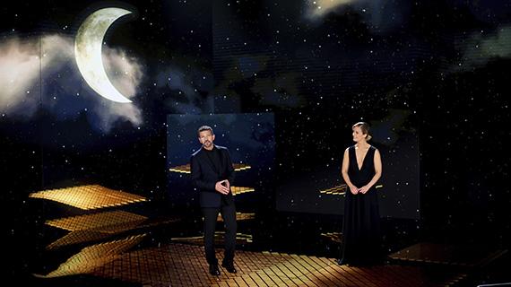 Los presentadores de la gala (Academia de Cine)