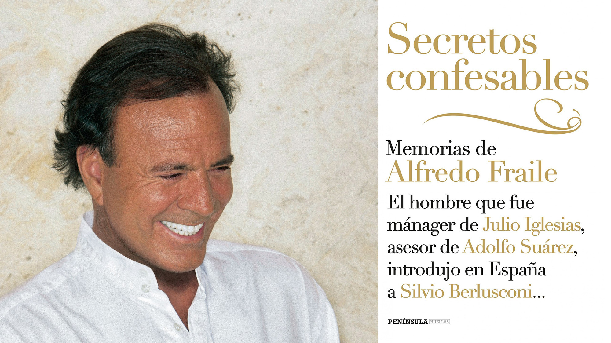 Julio Iglesias y el libro en el que se basaría su bioserie