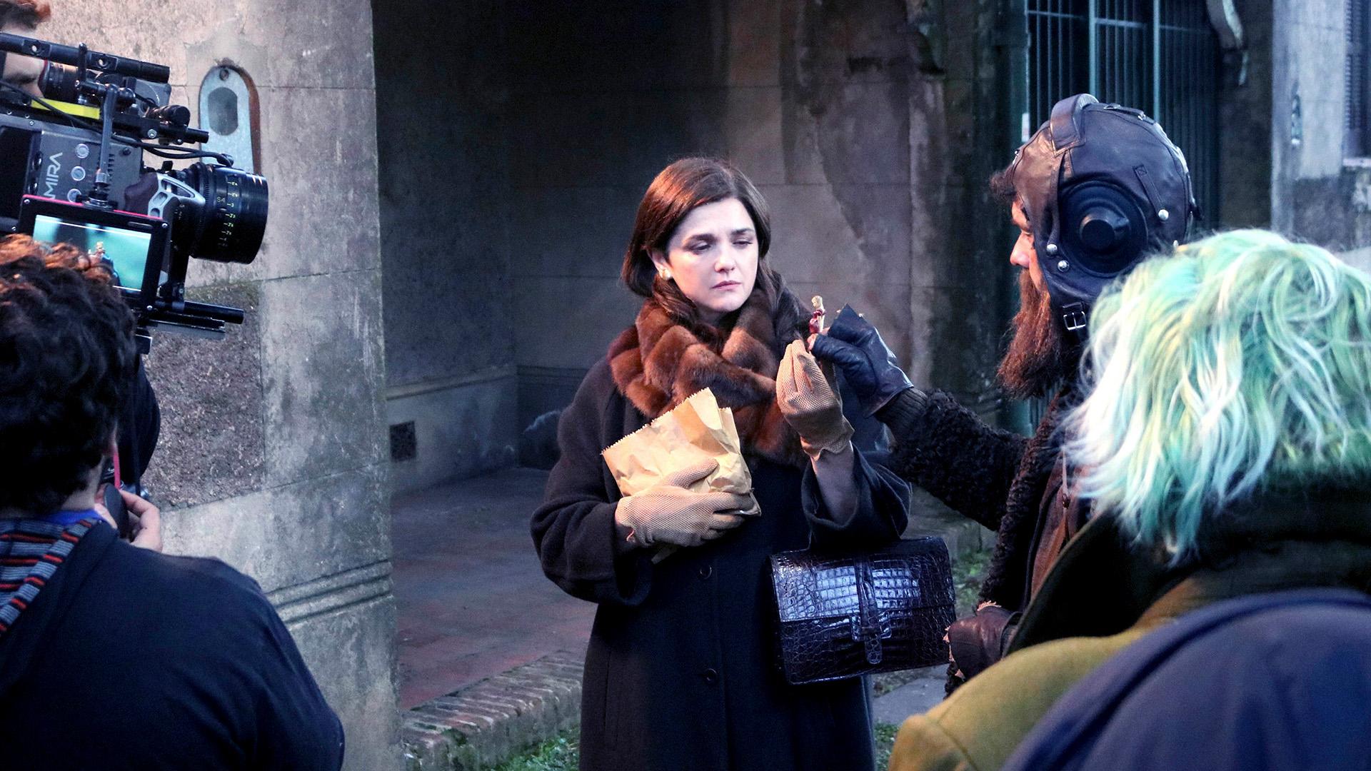 """Araceli González, en el rodaje de """"Sola"""""""