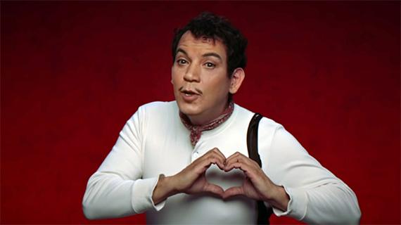 Mario Moreno, en el comercial