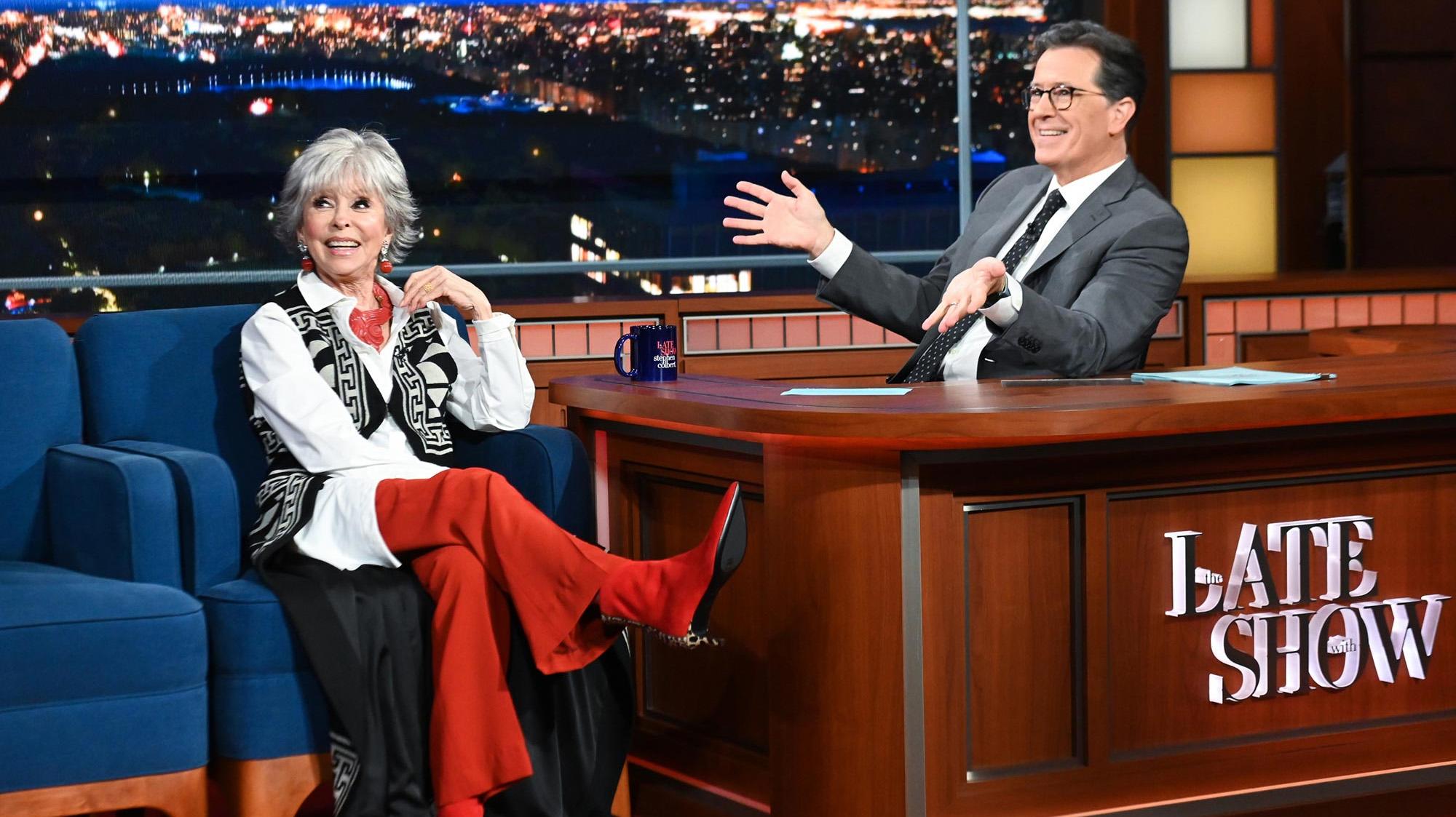"""Rita Moreno en """"The Late Show"""" (CBS)"""