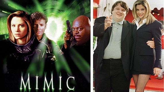 """""""Mimic"""" y Del Toro con Mira Sorvino cuando estrenó la película"""