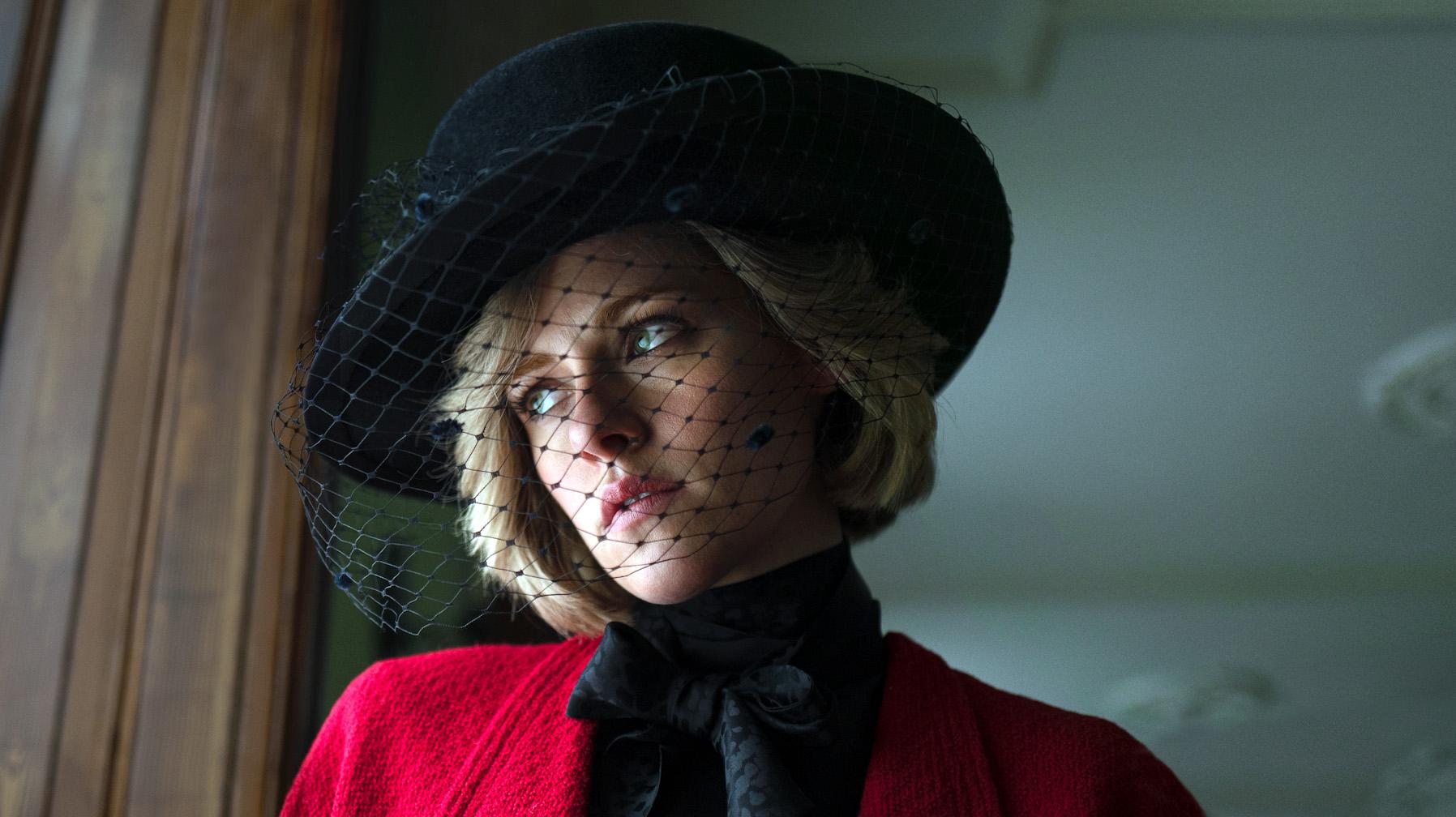 Kristen Stewart, caracterizada como Lady Di